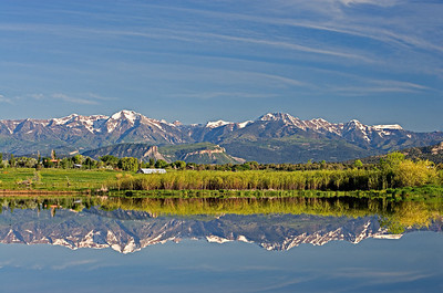 La Plata Mtns Reflection, Pastorius Wildlife Refuge, Durango